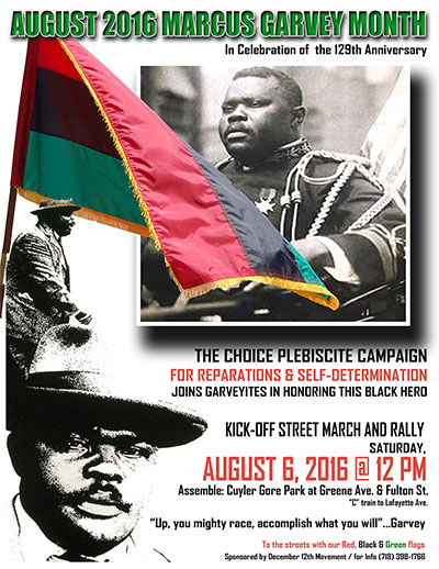 August 6, 2016, Garvey Event
