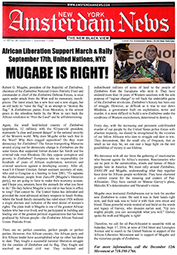 Amsterdam News: Mugabe is Right!