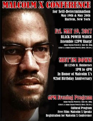 Malcolm X Conference Flyer 2017