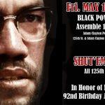 Fri., May 19th: Black Power March on 125th St., Harlem NY