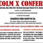 Sat., May 20th: Malcolm X Conference, Harlem, NY