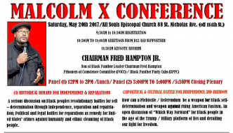 Sat., May 20th: Malcolm X Conference, Harlem, NY