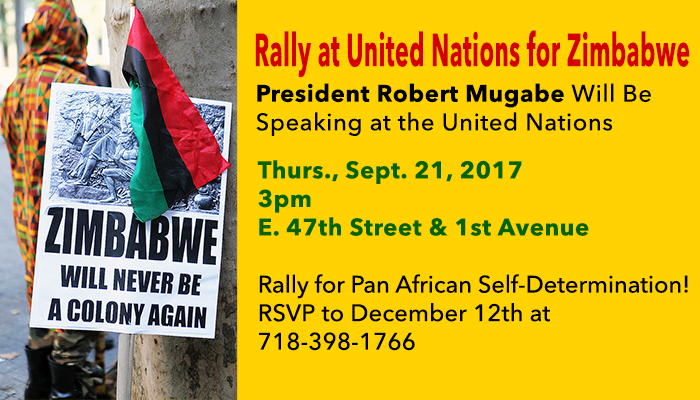 Rally for Zimbabwe at United Nations on September 21, 2017