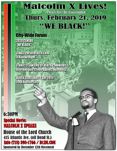 Malcolm X Lives! Citywide Forum 2019