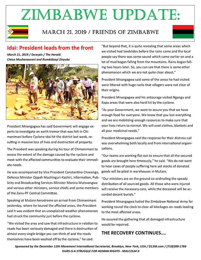 Zimbabwe Update 6