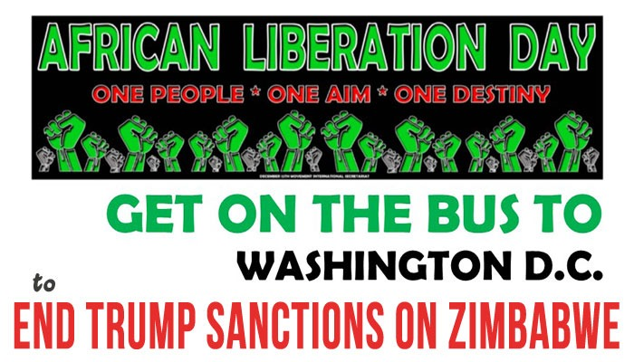 May 25, 2019 - Get on the Bus to End Trump Sanctions Against Zimbabwe