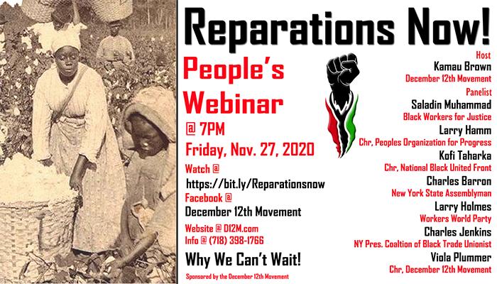 November 27, 2020 Reparations Webinar