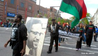 Malcolm X Parade- Photo by Bill Moore, Amsterdam News