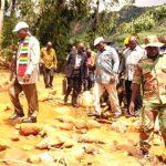 President Mnangawa visit site of Cyclone Idai.