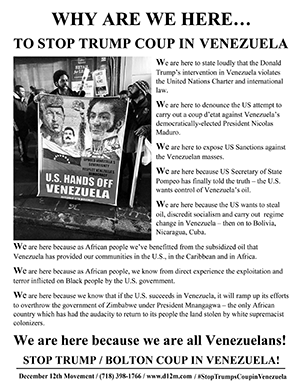 Statement at the U.S. Mission to the U.N. for Venezuela