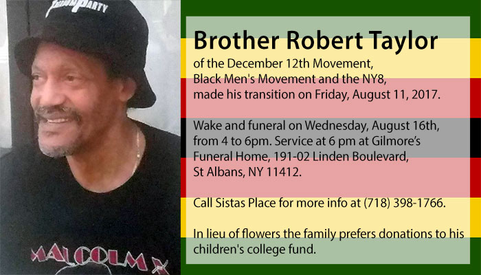 Brother Robert Taylor Joins the Ancestors