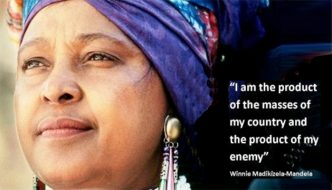 MUCH RESPECT AND LOVE TO OUR REVOLUTIONARY WARRIOR WINNIE MANDELA!